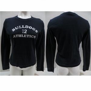 Abercrombie top Large blue Bulldogs Athletics 12